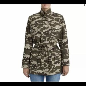 True Religion Camouflage Military Utility Jacket